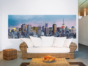 Fototapete New York Manhattan Skyline Grafisch