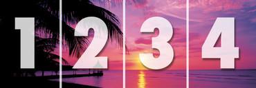 Fototapete Strand mit rotem Sonnenuntergang – Bild 3