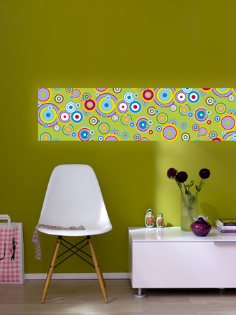 Wall Stripe Flying Bubbles Mint Stripe – Bild 1