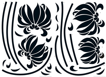 Wall Tattoo Black Flowers – Bild 1
