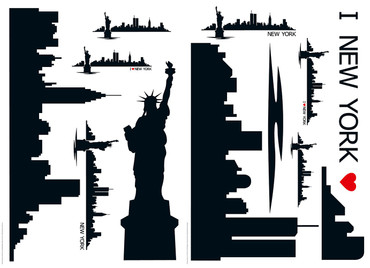 Wandtattoo New York Skyline – Bild 1