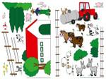 Wandtattoo Bauernhof für Kinder Selbstklebend 001