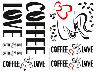 Wall Tattoo Coffee Love