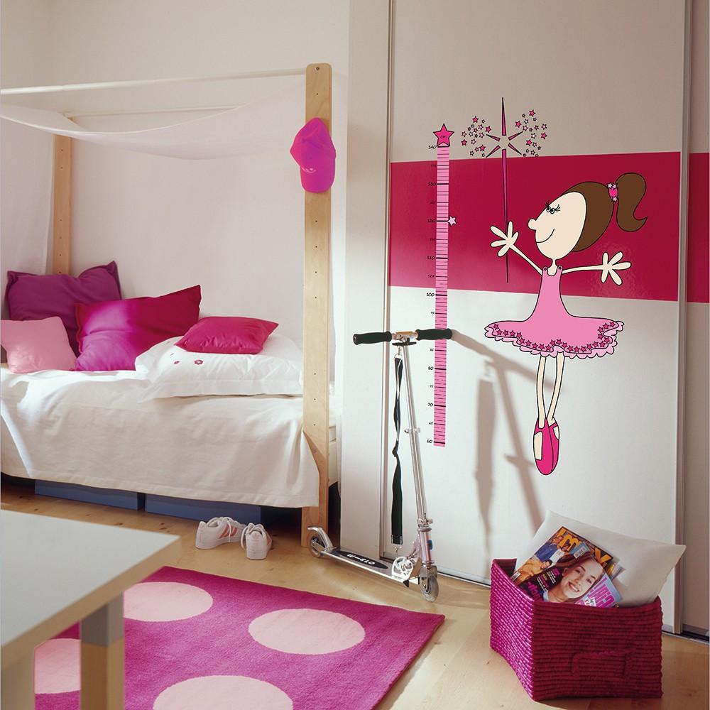 wandtattoo kinder messlatte f r m dchen selbstklebend stickers stripes wall stickers gross. Black Bedroom Furniture Sets. Home Design Ideas