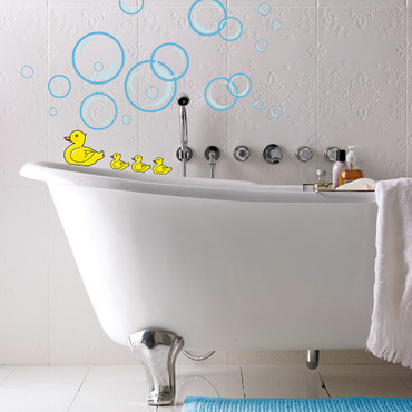 Wall Tattoo Bubble Ducks – Bild 2