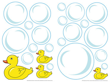 Wall Tattoo Bubble Ducks – Bild 1