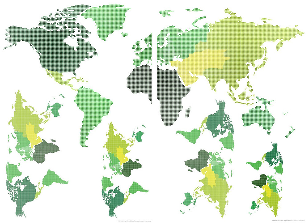 Wall Tattoo World Map