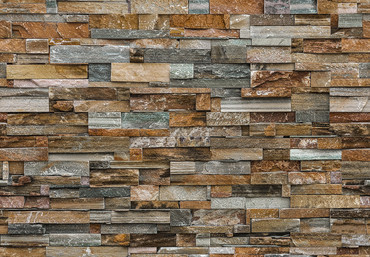 Wall Mural Colorful Stone Wall – Bild 2