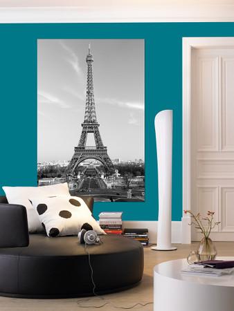 XXL Poster Paris Eiffelturm Schwarz-weiß – Bild 1