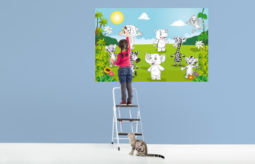 Giant Art XXL Poster Happy Animals – Color It Yourself – Bild 2