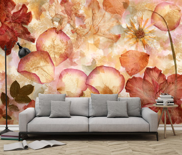 Non-Woven Wall Mural Dried Flowers – Bild 1