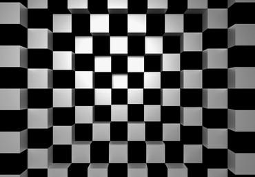 Non-Woven Wall Mural Black + White Squares – Bild 2