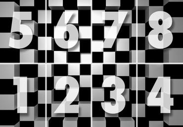 Non-Woven Wall Mural Black + White Squares – Bild 3