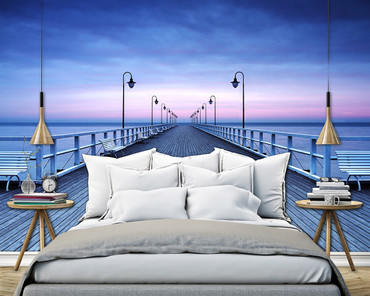 Non-Woven Wall Mural Pier at the Seaside – Bild 1