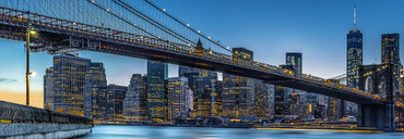 Vlies Fototapete New York Manhattan Brücke mit Skyline – Bild 2
