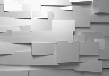 Fototapete 3D Wand Weiß – Bild 2
