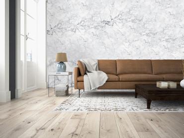 Vlies Fototapete Steinoptik edler Marmor in Weiß