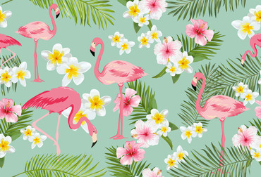Wall Mural Flamingos – Bild 2
