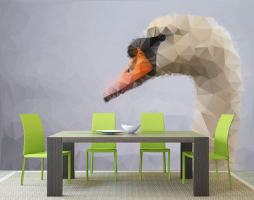 Wall Mural Polygon Swan – Bild 1