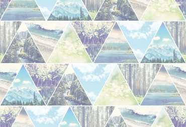 Wall Mural Triangle World – Bild 2