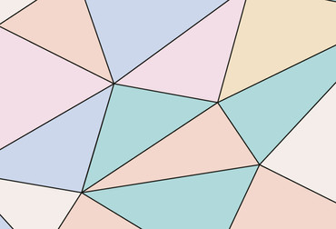 Wall Mural Polygons – Bild 3