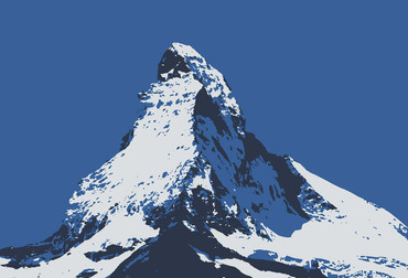 Wall Mural Matterhorn Illustration – Bild 2