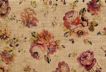 Wall Mural Flowers on Jute – Bild 2