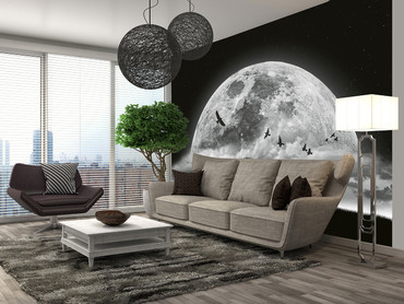 Wall Mural Moon and Birds – Bild 1