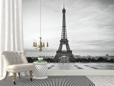 Fototapete Eiffelturm Paris Sonnenuntergang