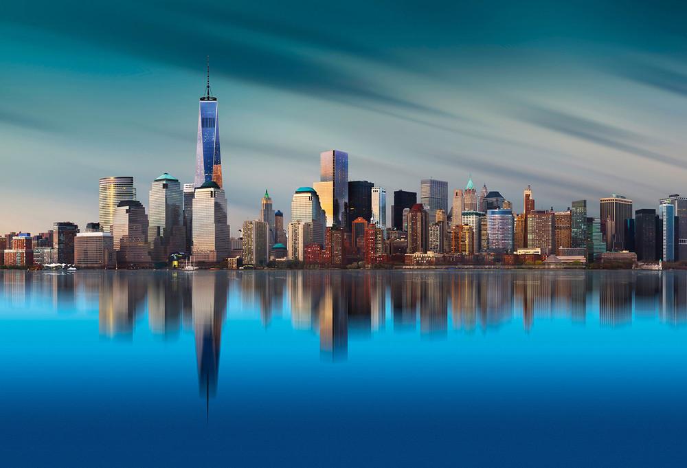 fototapete new york skyline gezeichnet fototapeten themen. Black Bedroom Furniture Sets. Home Design Ideas