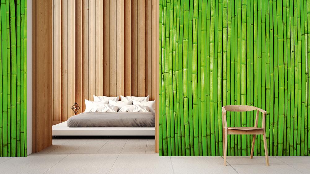 fototapete bambus wand gr n vlies fototapeten wiizi. Black Bedroom Furniture Sets. Home Design Ideas