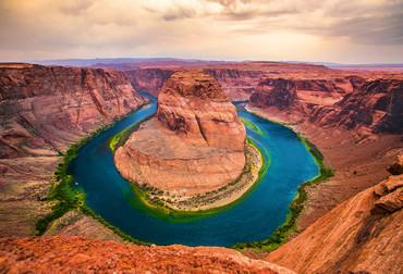 Fototapete Gebirge mit Fluss Horseshoe Bend USA – Bild 2