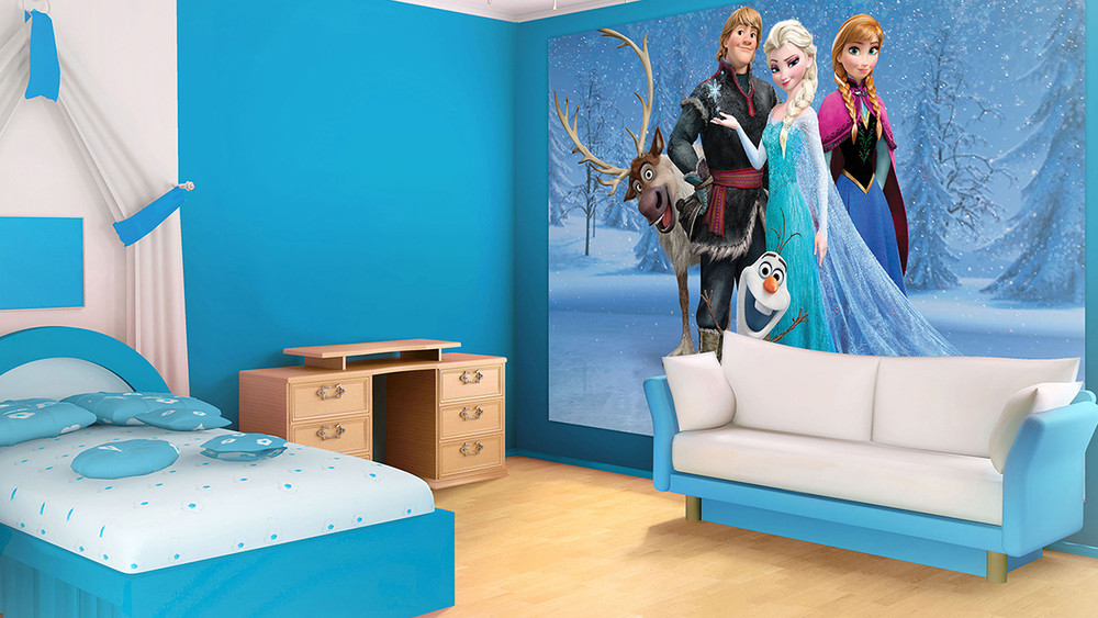 fototapete disney frozen eisk nigin hauptcharaktere ideal f r kinder vlies fototapeten. Black Bedroom Furniture Sets. Home Design Ideas