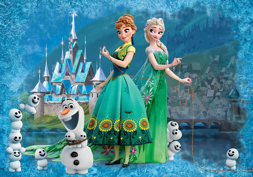 Photo Wallpaper Disney Frozen Anna Elsa Olaf For Kids Non Woven