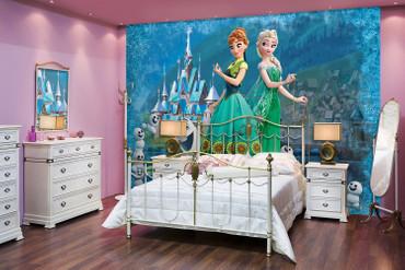 Kinder Fototapete Disney Frozen Eiskönigin Anna, Elsa & Olaf – Bild 2