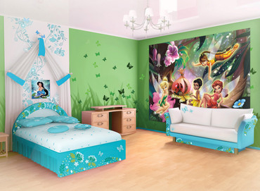Photo Wallpaper Disney Fairies Girls Bedroom – Bild 2