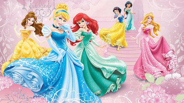 Photo Wallpaper Disney Princesses Girls Bedroom – Bild 1
