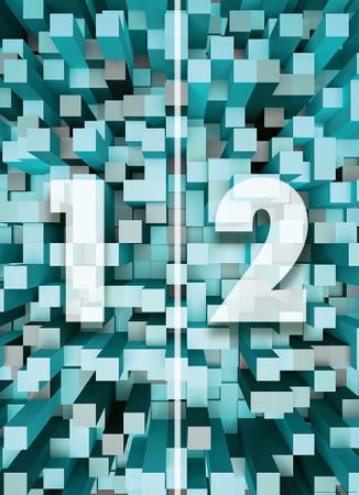 Papier Fototapete 3D Quadrate blau 184x254cm – Bild 4
