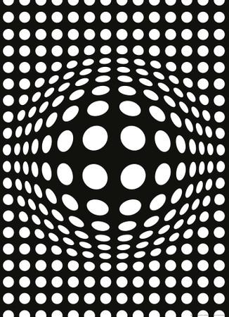 Papier Fototapete Punkte schwarz und weiß invertiert 184x254cm – Bild 1