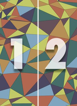 Papier Fototapete Kunst Polygone 1 184x254cm – Bild 4