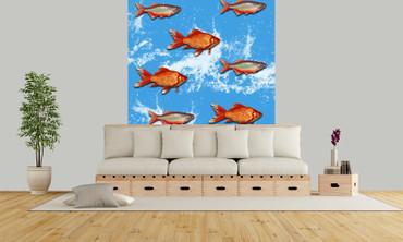 Papier Fototapete Goldfisch 184x254cm – Bild 2
