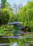 Papier Fototapete Monets Garten in Frankreich 184x254cm 001