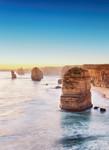 Papier Fototapete Klippe bei Sonnenuntergang in Australien 184x254cm 001