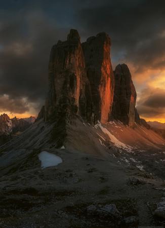 Papier Fototapete Dolomiten Italien 184x254cm – Bild 1