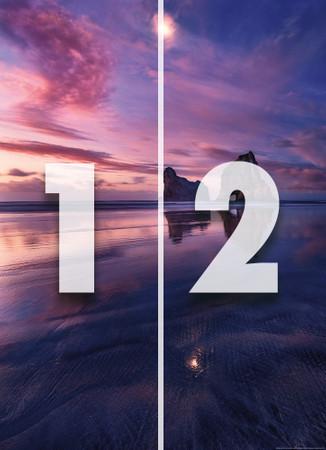 Papier Fototapete Bucht bei Sonnenuntergang 184x254cm – Bild 4