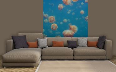 Papier Fototapete Quallen Unterwasser Meer 184x254cm – Bild 2