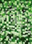 Vlies Fototapete 3D Quadrate grün 184x254cm 001