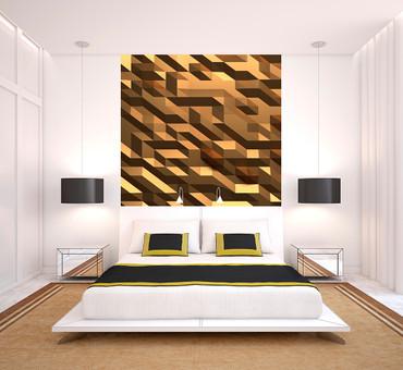 Vlies Fototapete 3D Kristall Gold 184x254cm – Bild 2