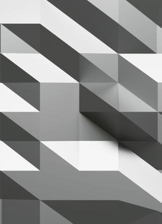 Vlies Fototapete 3D-Kristall Silber 184x254cm – Bild 3