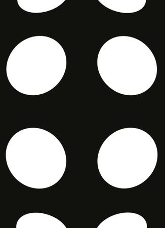 Vlies Fototapete Punkte schwarz und weiß invertiert 184x254cm – Bild 3